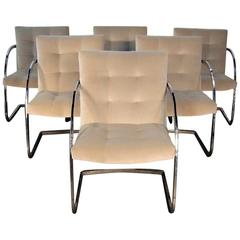 Milo Baughman Chrome Armchairs for Thayer Coggin Mid-Century Modern
