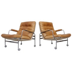 Pair of Easy Chairs Model Karin by Bruno Mathsson