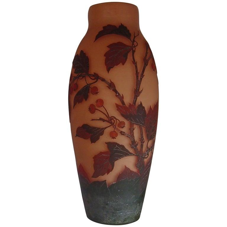 Huge D'Argental Cameo Vase For Sale