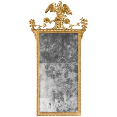 Late 18th Century Giltwood Carved Mirror