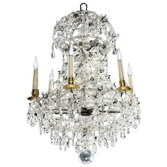 Rock Crystal Six-Light Chandelier 'a Lace'