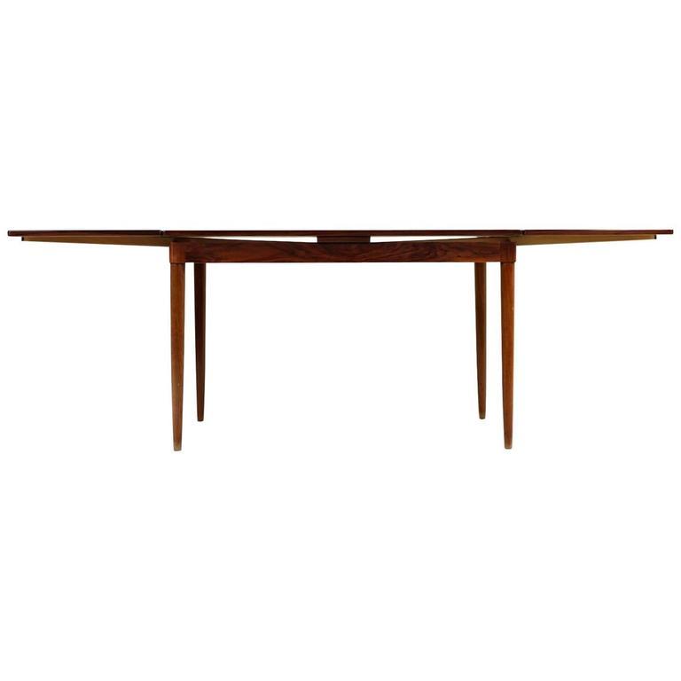 Extendable 1960s Niels O. Møller Rosewood Dining Table for J.L. Moller Danish