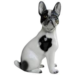 Porcelain French Bulldog, Italy, 1960s