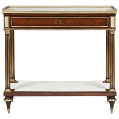 French 19th Century Mahogany and Gilt Console Table