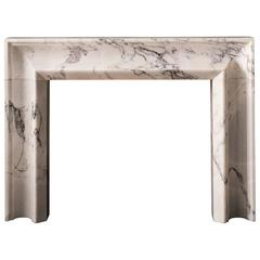 The Luna Bolection Mantel in Anatalyan Lilac Marble