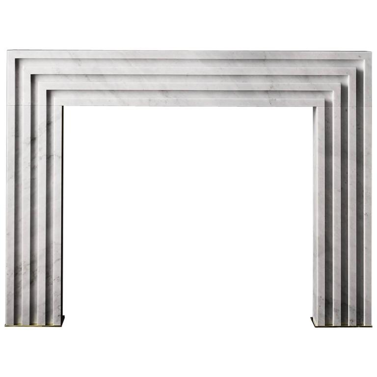 Rubicon Mantel by Pembrooke and Ives in Carrara Marble