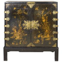 English Lacquered Cabinet on a Contemporary Base, circa 1700, England