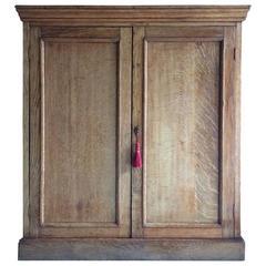 Antique Oak Hall Bathroom Cupboard Cabinet Oak Victorian, 19th Century