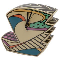 """German Rosenthal Dorothy Hafner """"Flash Time"""" Porcelain Clock"""