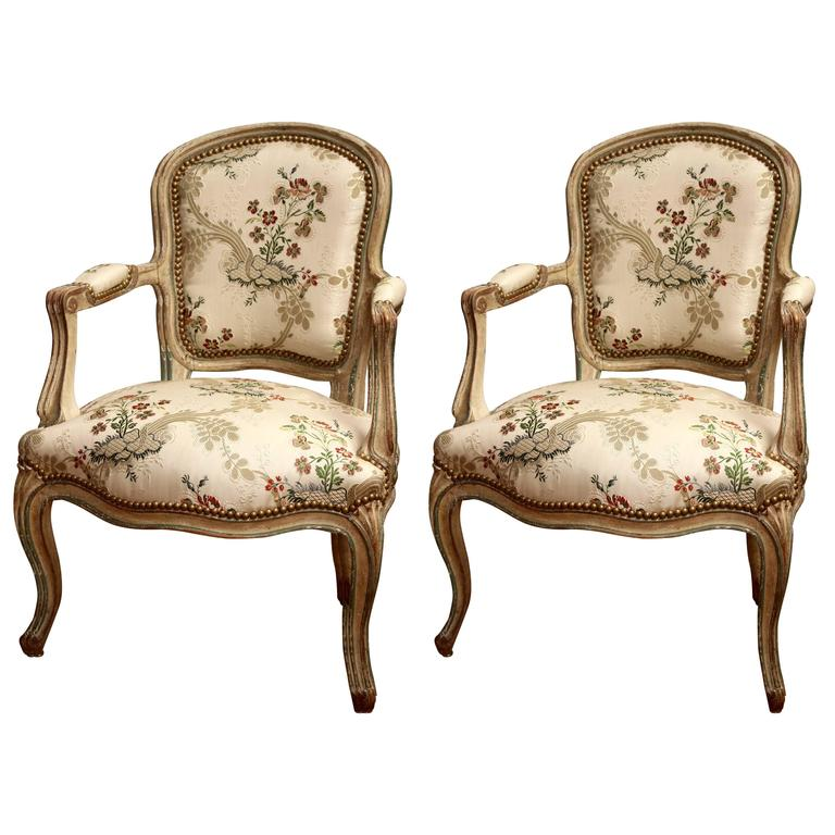 Louis XV armchairs, ca. 1770