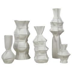Set of Five Kawa Vases from Souda, Limited Edition, Handmade by the Designer