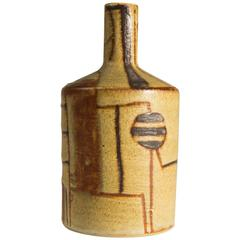 Beate Kuhn, Ceramic-Bottle Vase, Germany, 1950