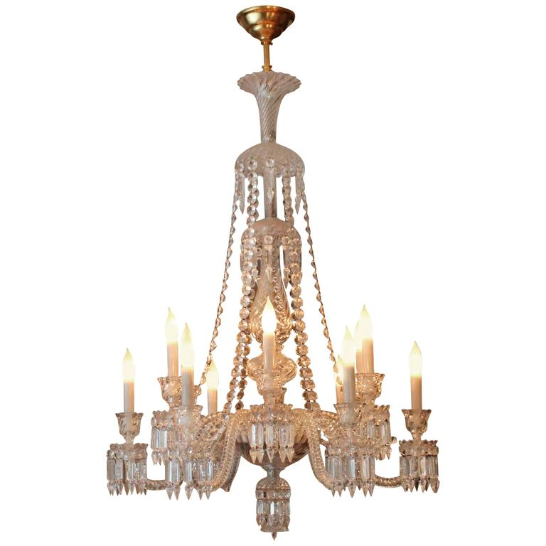Twelve-Arm Light Baccarat Crystal Helios Chandelier