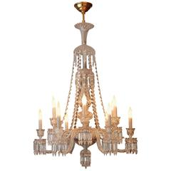 Twelve-Arm Light Baccarat Crystal Zenith Long Chandelier
