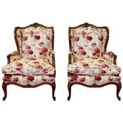 Charming Pair of Louis XV Style Bergeres