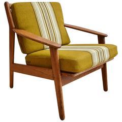 Mid-Century Retro Danish Oak Poul M. Volther Model J55 for FDB Lounge Armchair