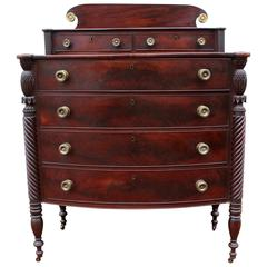 Exceptional North Shore, Massachusetts Mahogany Chest, circa 1820
