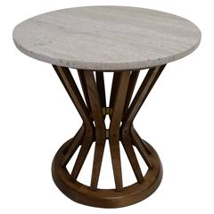 "Edward Wormley for Dunbar ""Sheaf of Wheat"" Stand with Travertine Top"