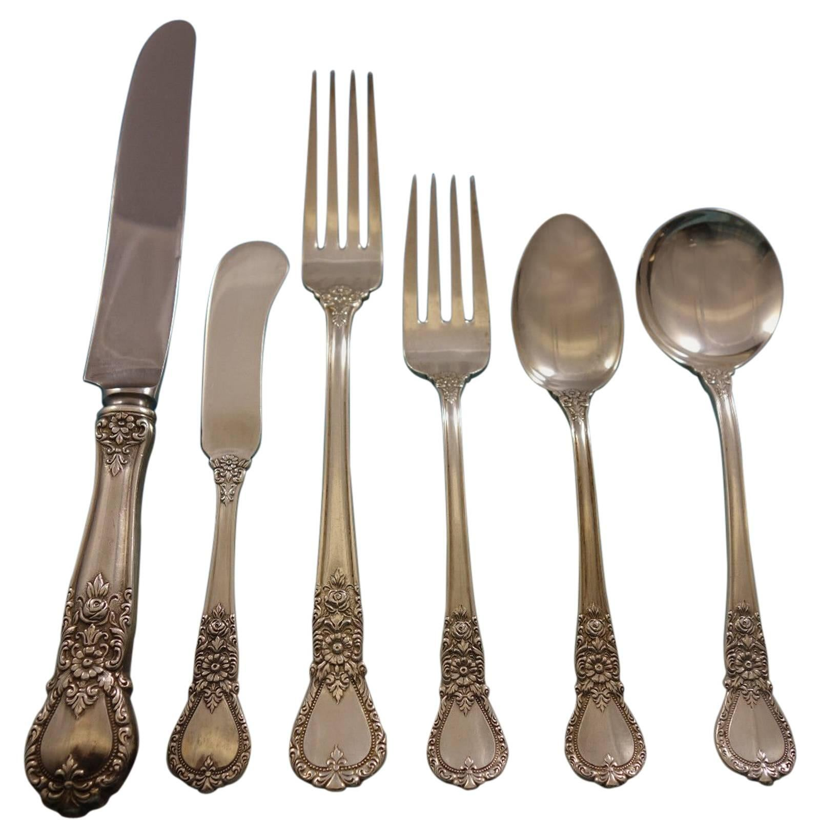 Ballet, Weidlich Sterling Silver Flatware Set for Eight Service 48 Pieces Dinner