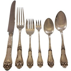 Champlain by Amston Sterling Silver Flatware Set for 8 Service 50 Pieces Dinner