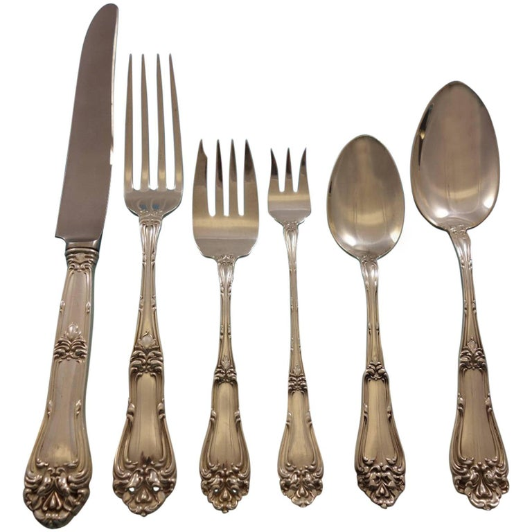 Champlain by Amston Sterling Silver Flatware Set for 8 Service 50 Pieces Dinner For Sale