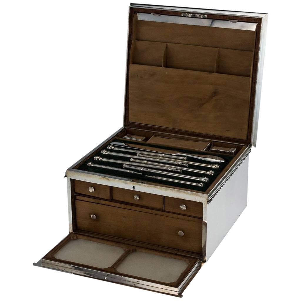 19th Century Victorian Solid Silver Boxed Desk Writing Set, London, circa  1863 For Sale at 1stdibs - 19th Century Victorian Solid Silver Boxed Desk Writing Set, London
