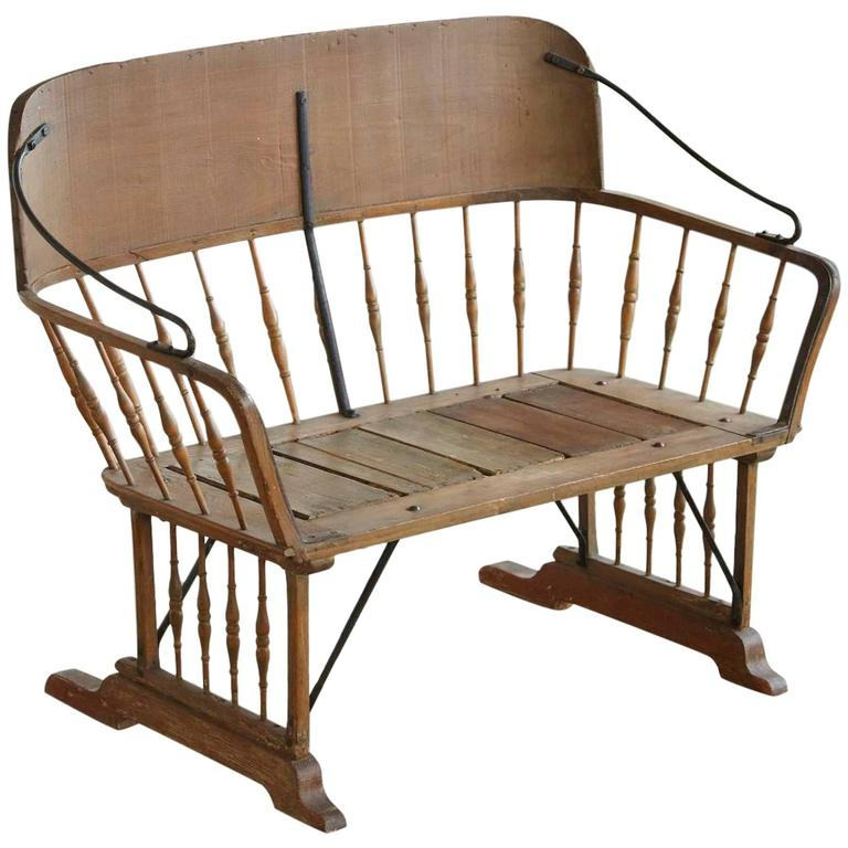 Antique Buggy Or Sleigh Seat Bench With Iron Works For Sale At 1stdibs
