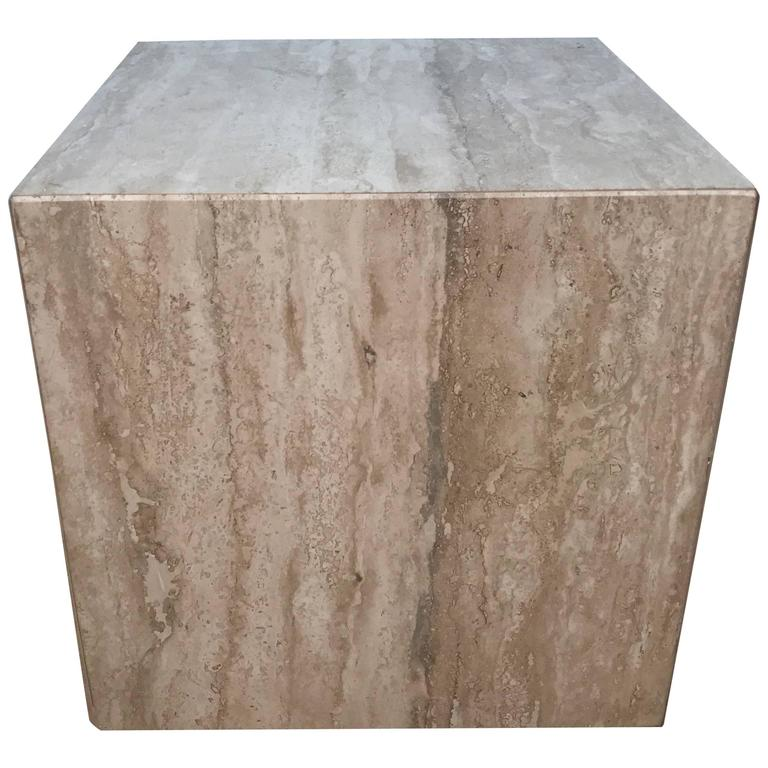 Travertine 16 Cube Side Table For Sale