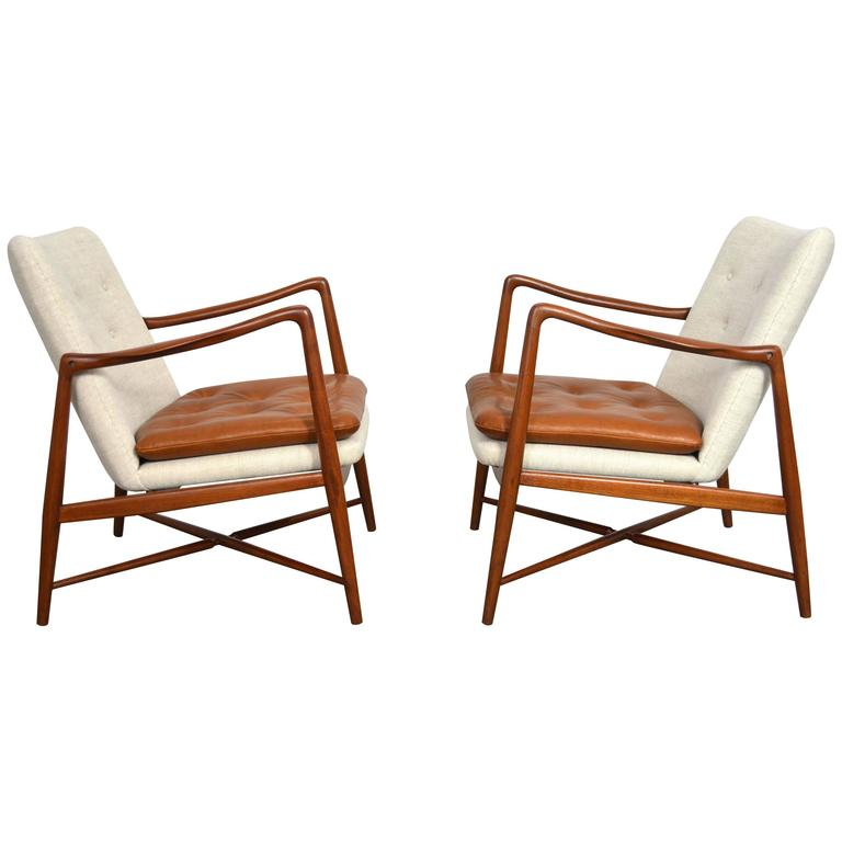 pair of finn juhl fireplace lounge chairs at 1stdibs