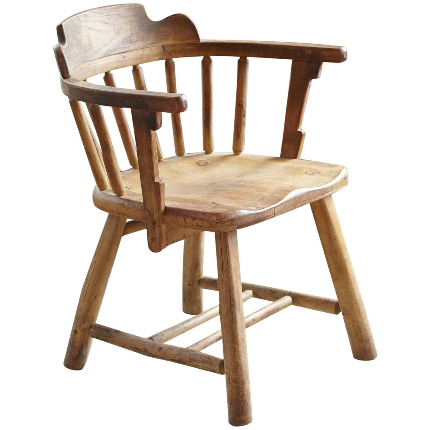 Antique Oak Barrel Chair - Barrel Chairs - 151 For Sale On 1stdibs