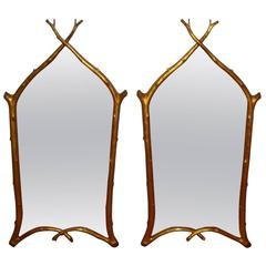 Pair of Carvers Guild Twig Mirrors