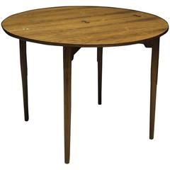 Danish Master Cabinetmaker 1940s Brazilian Rosewood Folding Console Table