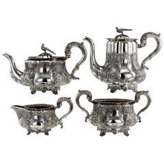19th Century Regency Solid Silver Four-Piece Tea & Coffee Set, London circa 1835