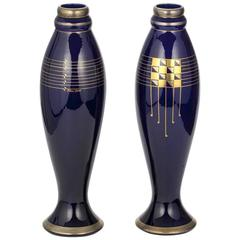 Pair Of Vases By Pinon Heuzé, Art Deco, circa 1930