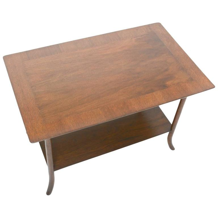 T. H. Robsjohn-Gibbings Side Table for Widdicomb with Crossed-Veneer Top 1