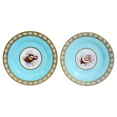 Regency Period Flight, Barr & Barr Worcester Sea-Shell Porcelain Plates