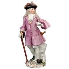 Meissen Porcelain Figure of the Squire of Alsatia, circa 1754