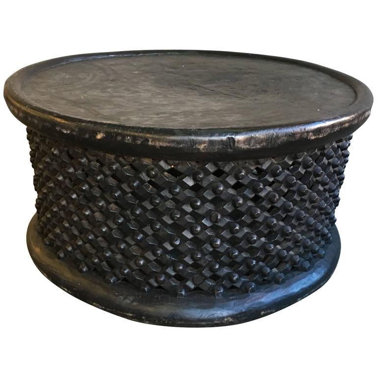 Bamileke Wood Table Or Stool From Cameroon 1