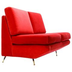 Mid-Century Italian Settee in the Manner of Marco Zanuso
