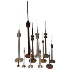 Collection of TV Television Tower Models Design Statues German