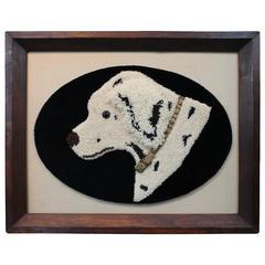 Folk Art Dog Yarn Portrait