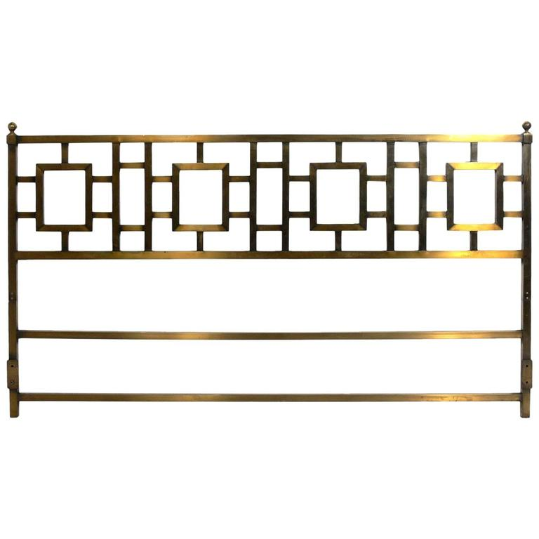 Glamorous Brass Headboard for a King-Size Bed