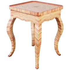 Italian Faux Stone Painted Occasional Table
