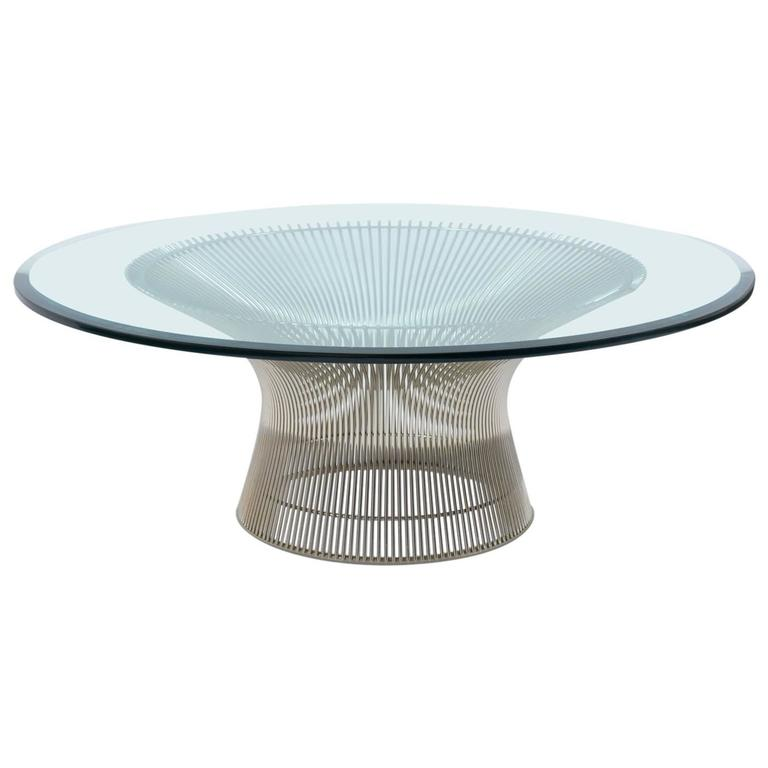 this mid century modern coffee table by warren platner is no longer