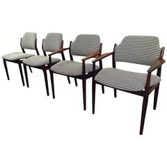 Set of Four Arne Vodder Rosewood Chairs
