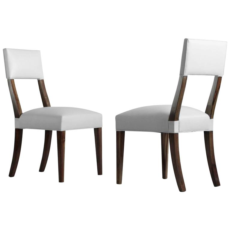 Luca High-Back Dining Chair from Costantini in Argentine Rosewood and Leather