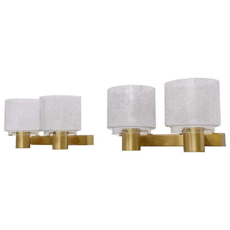 Pair of Swedish Brass Wall Lamps by Boréns, 1960s