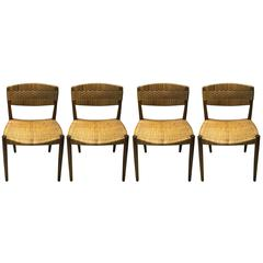 Set Of Four Dining Chairs By Ejner Larsen And Axel Bender Madsen By Willy  Beck