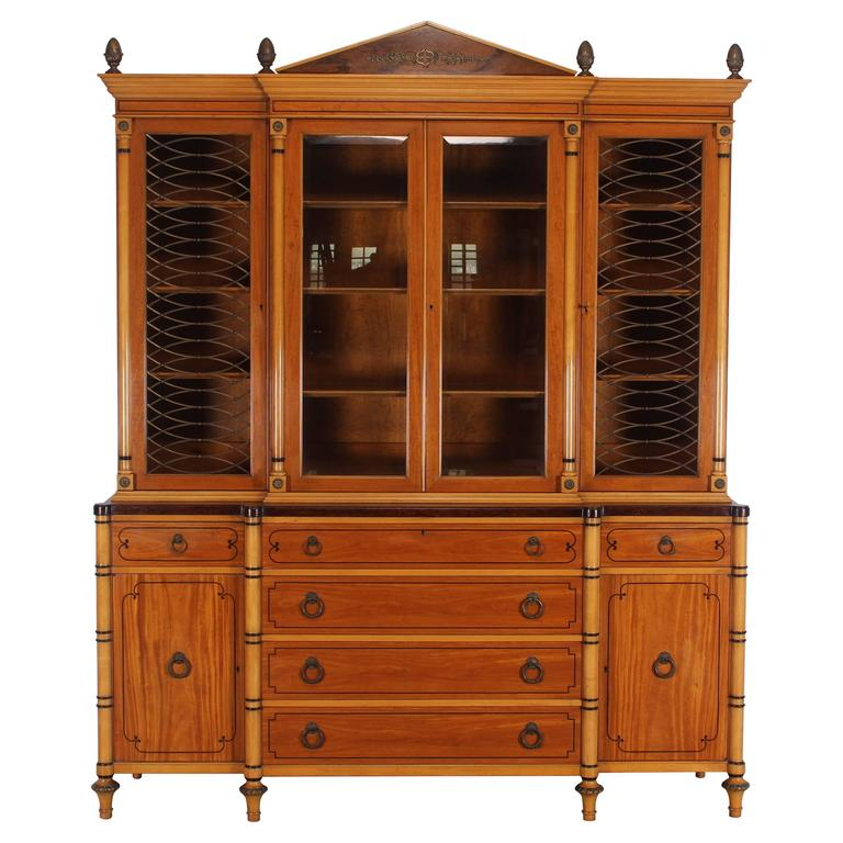 Kittinger Neoclassical Style Breakfront Bookcase