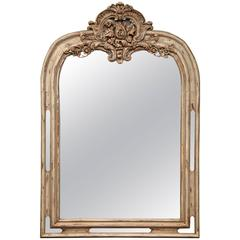 Early 19th Century French Régence Carved Painted and Gilt Mirror from Lyon